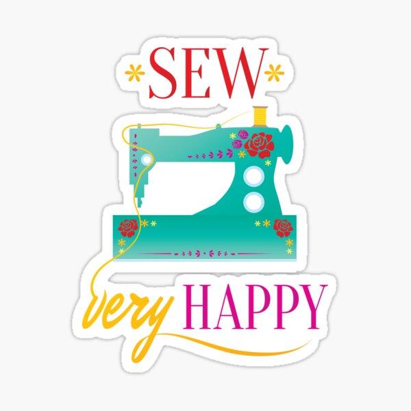 Sew Very Happy Sticker