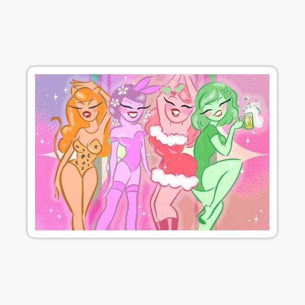 Holiday Girls Sticker