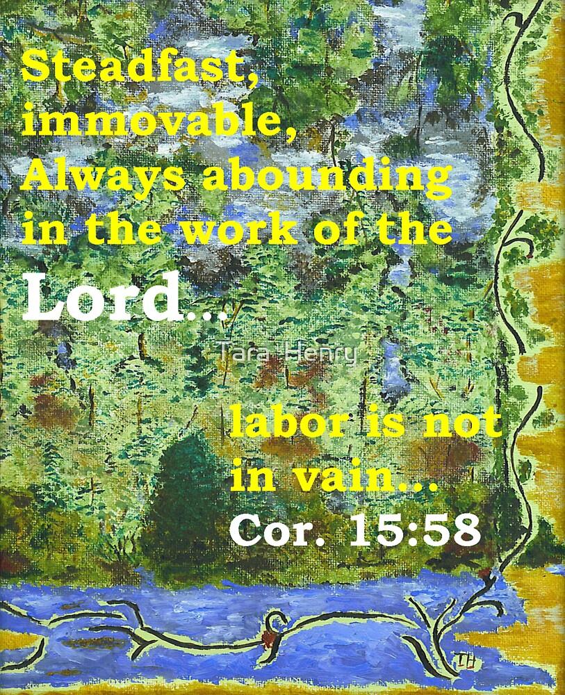 Cor. 15:58 in Night Lights by Tara  Henry
