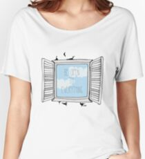 be open to everything grey Women's Relaxed Fit T-Shirt