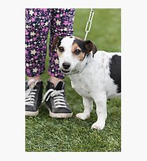 cute dog with baby Photographic Print