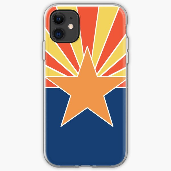 Arizona Flag with Modern, Minimalist Colors. Show your Arizona state pride with pride! iPhone Soft Case