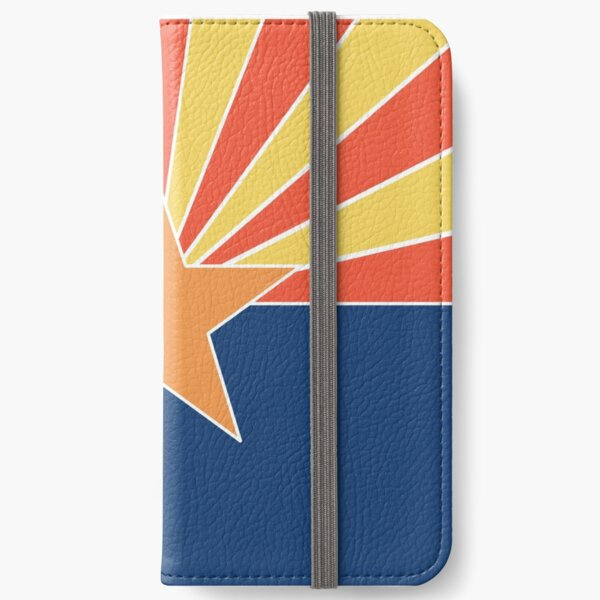 Arizona Flag with Modern, Minimalist Colors. Show your Arizona state pride with pride! iPhone Wallet
