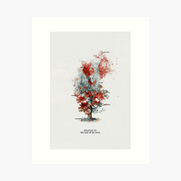 Map of the Soul: Tracklist Cards  Art Print