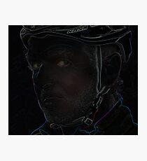 tough cyclist Photographic Print