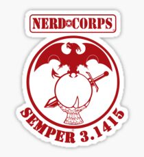 Nerd Corps Semper 3.1415 Sticker
