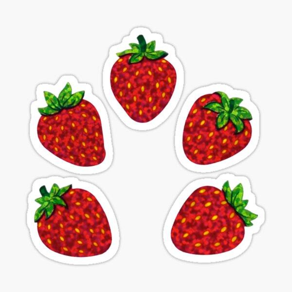 sparkly strawberry sticker pack Sticker