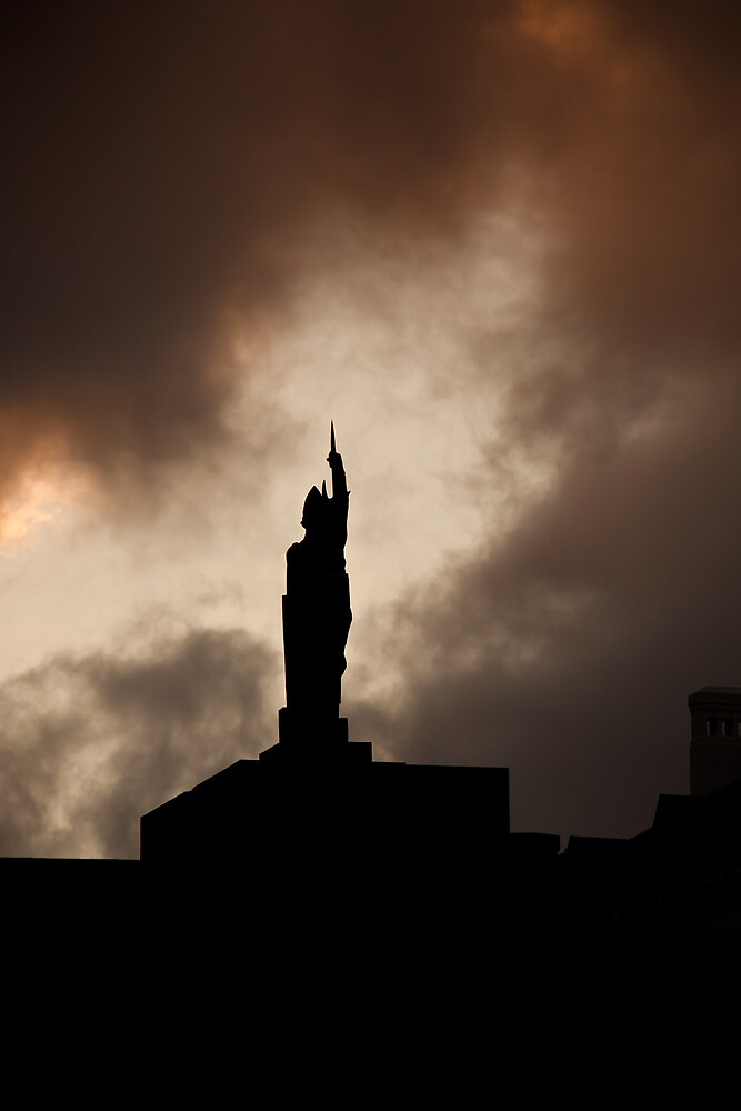 Ingolfur Arnarsson statue, Reykjavik by herbpayne