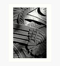 Carved door Art Print