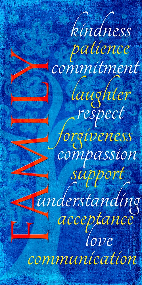 Family typographical art print by bonniebruno