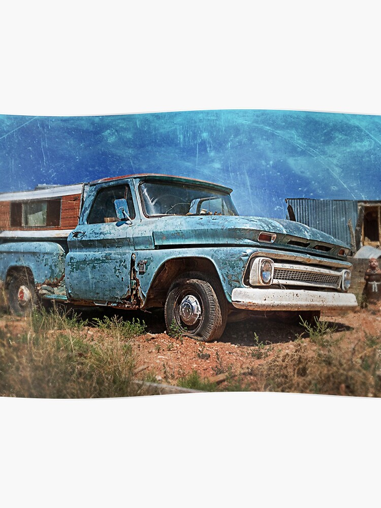 Old Chevy Truck >> Old Chevy Pickup Poster