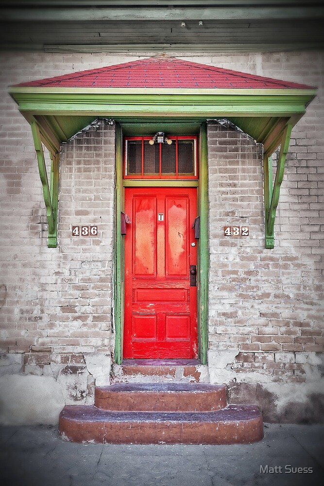 Tucson red door by Matt Suess
