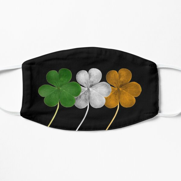 Drapeau d'Irlande Shamrock Masque taille M/L
