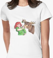 Christmas Fun with Lily and Prongs Womens Fitted T-Shirt