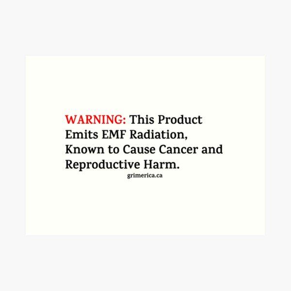 Microwave Warning  Art Print