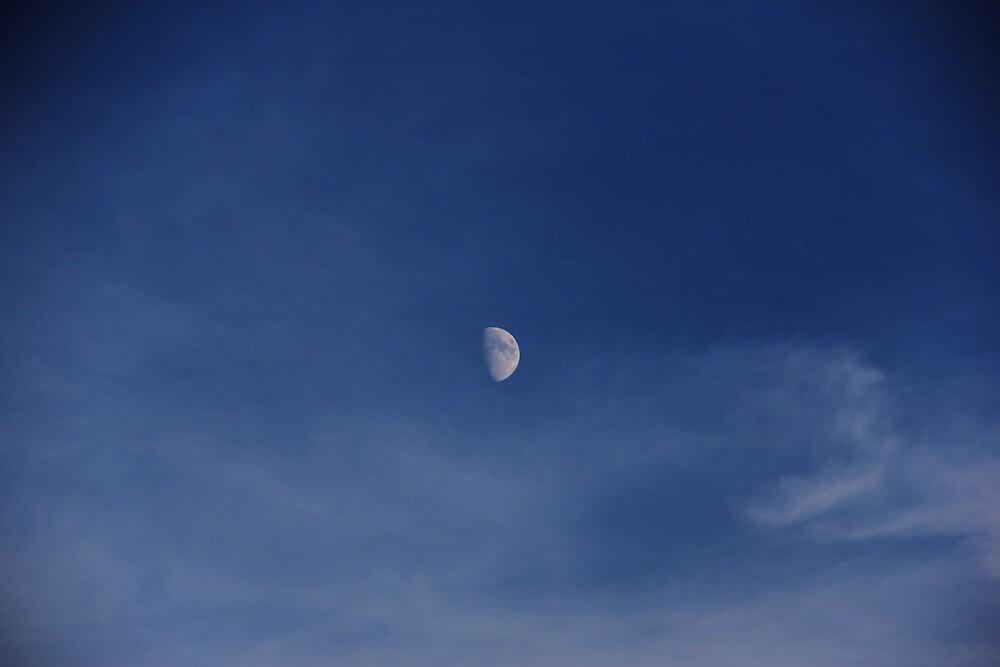Day Moon by arjunhair