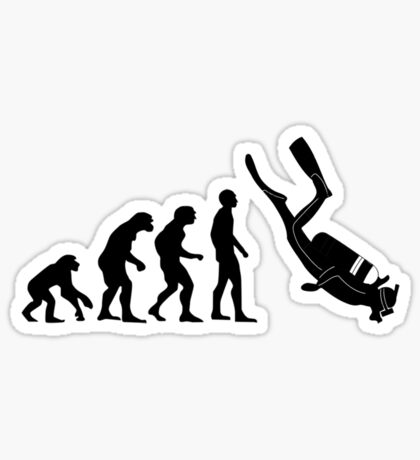 Scuba evolution Sticker