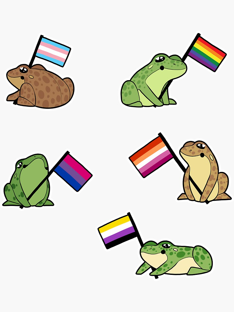 LGBT Frog Stickers by tosaking