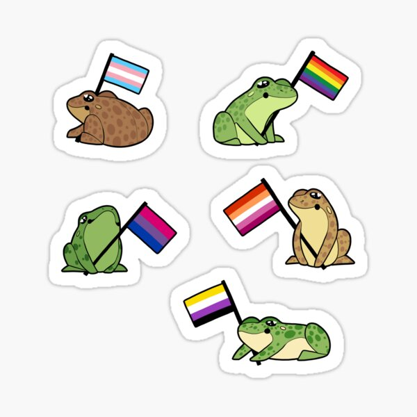 LGBT Frog Stickers Sticker