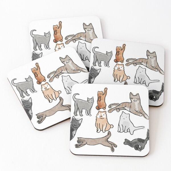Cats Coasters (Set of 4)