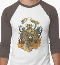 The Robots Come Out At Knight Men's Baseball ¾ T-Shirt
