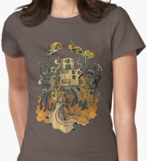 The Robots Come Out At Knight Womens Fitted T-Shirt