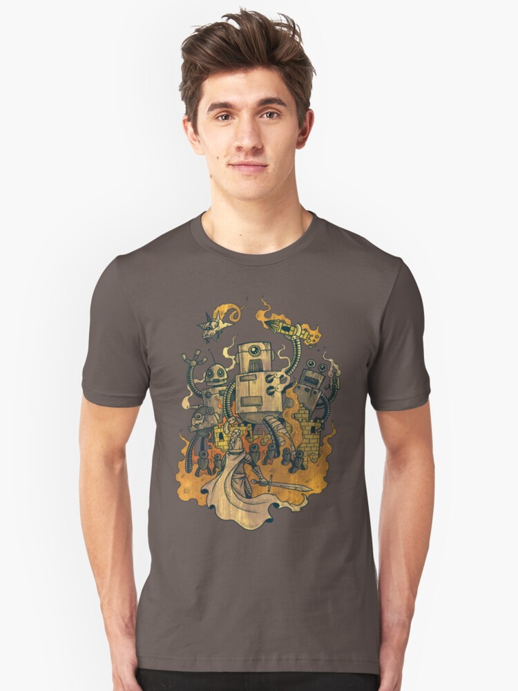The Robots Come Out At Knight Unisex T-Shirt Front
