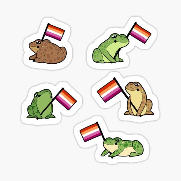 Lesbian Frog Pride Stickers Sticker
