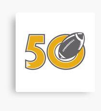 50 Pro Football Championship Ball Canvas Print