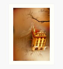 Looking Down-where the city sleeps Art Print