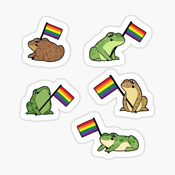Gay Frog Pride Stickers Sticker