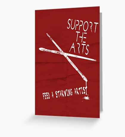 Support the Arts Greeting Card