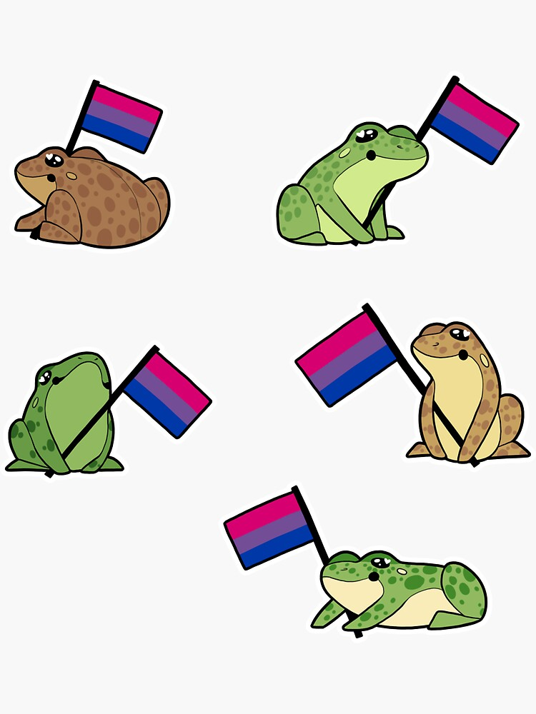 Bi Frog Pride Stickers by tosaking