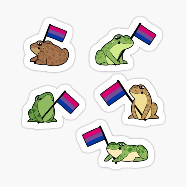 Bi Frog Pride Stickers Sticker