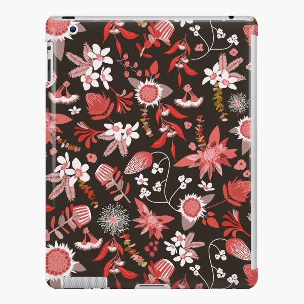 Stylized Australian Flora in black, pink and white iPad Snap Case