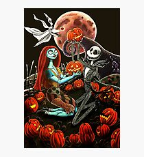 Jack and Sally Pumpkin Patch  Photographic Print