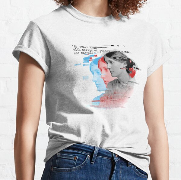 Virginia Woolf portrait and quote Classic T-Shirt