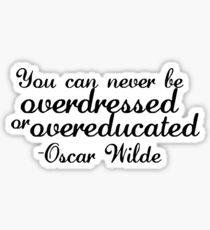 Oscar Wilde Sticker