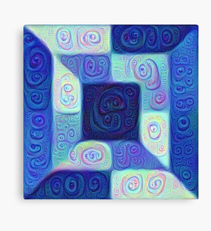 DeepDream Color Squares Visual Areas 5x5K v15 Canvas Print