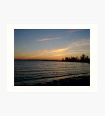lake simcoe sunset Art Print