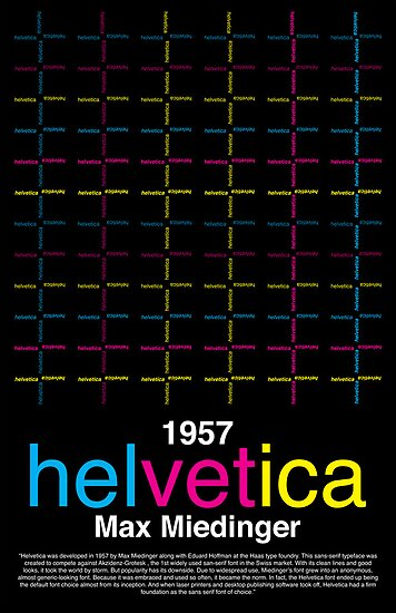 Helvetica Poster by plopezjr
