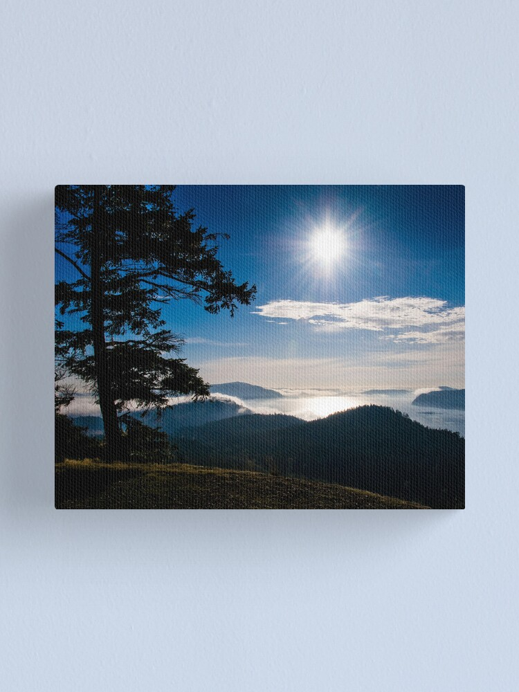 Alternate view of Fog Over Plumper Sound, Mayne Island Canvas Print