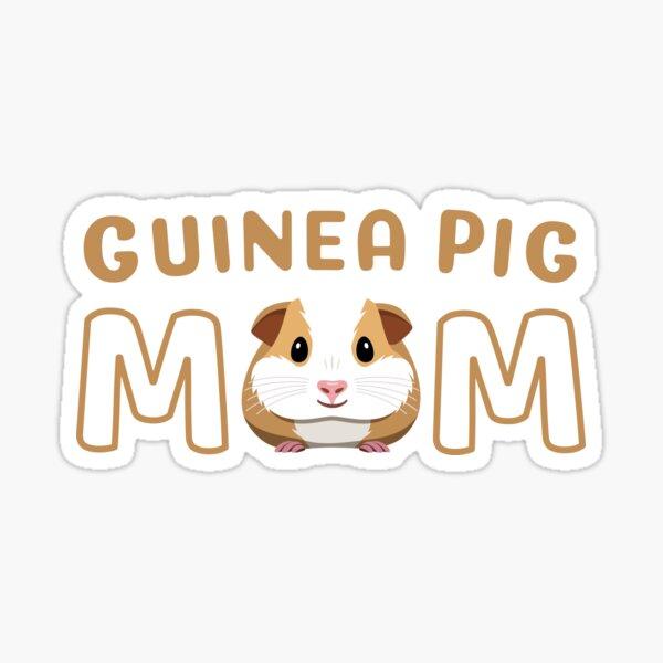 Cute Guinea Pig Mom Sticker