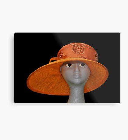 The Orange Hat Metal Print