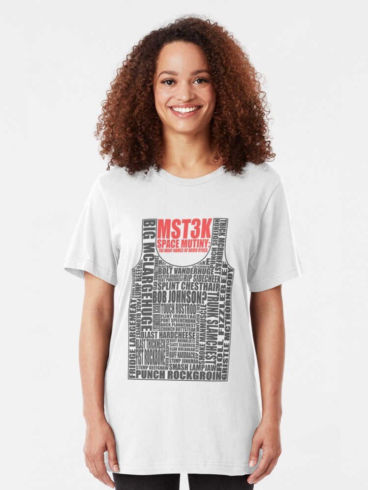 Alternate view of MST3K: The many names of David Ryder Slim Fit T-Shirt