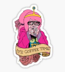 Adventure Time - It's Coffee Time (Princess Bubblegum) Sticker