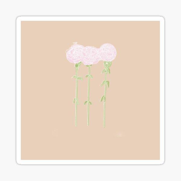 Carnation January Birth Flower in Pink Sticker