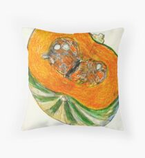 Jap pumpkin Throw Pillow