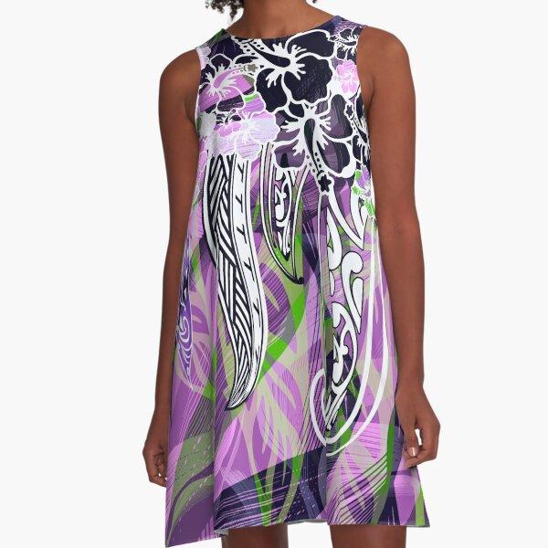 Hawaiian - Samoan - Polynesian Tropical Threads A-Line Dress