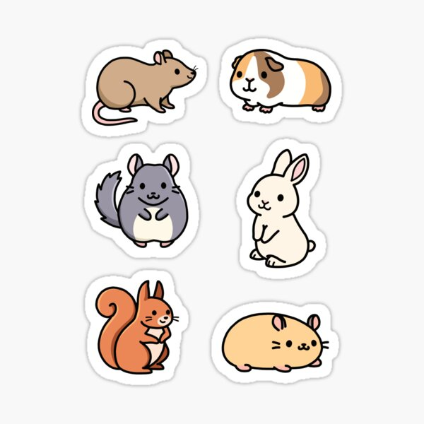 Cute Animal Sticker Pack 3 Sticker